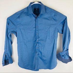 Stone Rose Mens blue button down dress shirt xl